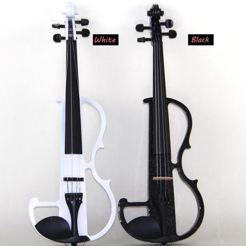 full size black white red blue beginner wood electric violin fiddle for sale gift headphone. Black Bedroom Furniture Sets. Home Design Ideas