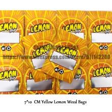 Sacs pour bonbons au citron jaune 7x10 CM, pochettes à fermeture éclair pour tabac, accessoires pour fumer, Logo personnalisé