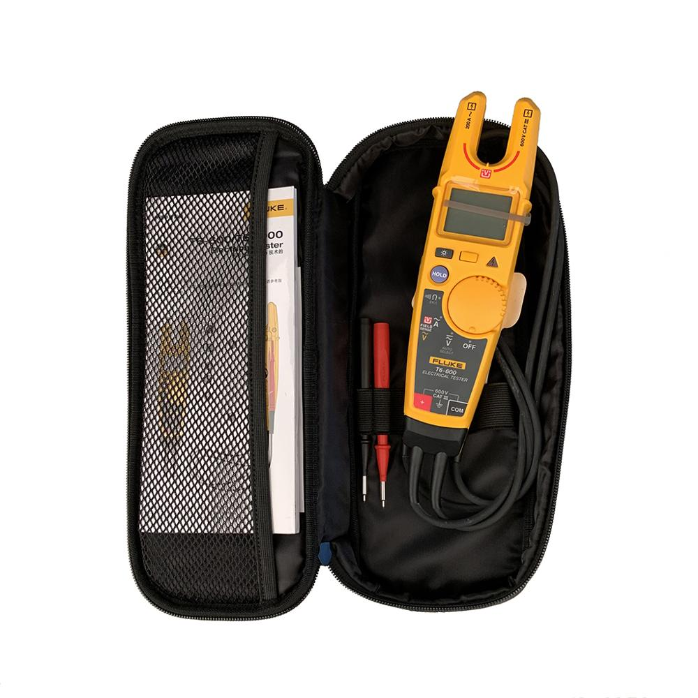Fluke T6-600 Clamp Continuity Current Electrical Tester Non-contact Voltage Clamp  Meter With Original Fluke Soft Case