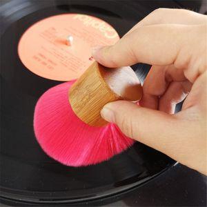 Image 1 - 나무 손잡이 청소 브러시 소프트 브러시 클리너 먼지 제거제 비닐 LP 플레이어 액세서리