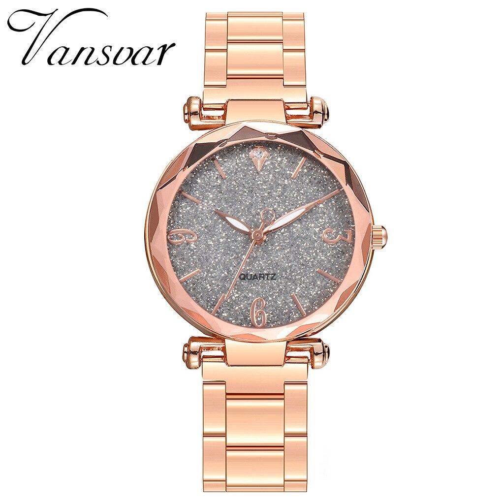 Наручные часы креативные женские часы кварцевые женские часы Звездное небо розовое золото женские часы водонепроницаемые Relogio Feminino Reloj Mujer