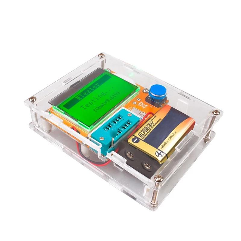 ESR метр Транзистор тестер Mega328 тестер транзисторов цифровой V2.68 ESR-T4 Диод Триод Емкость MOS/PNP/NPN LCR 12864 ЖК-дисплей Экран тестер LCR метр