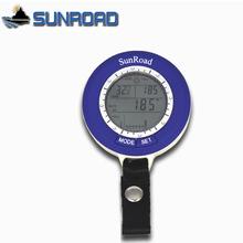 Sunroad SR204 Mini LCD cyfrowy barometr wędkarski termometr wysokościomierz wodoodporny miernik temperatury akwarium elektroniczna temperatura tanie tanio Typu handheld Other 5 5 * 1 5cm HIKE