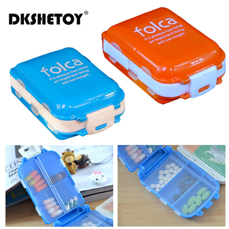 Portable Folding Pill Case Medicine Drug Pills Drugs Capsule Tablet Container Boxs Plastic Empty Drug Organizer Pillbox Cases