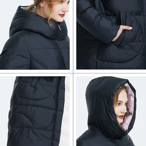 Image 5 - Astrid 2019 Winter new arrival down jacket women outerwear high quality long style thick cotton warm women winter coat AR 6596