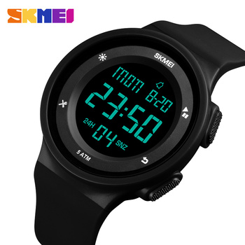 SKMEI Fashion Men Sport Watches LED Digital Calendar Stopwatch Clock Watch 5Bar Waterproof Wristwatch relogio masculino 1445 skmei brand pedometer sport watch men digital multifunction casual fitness led watches fashion men s outdoor wristwatch relogio