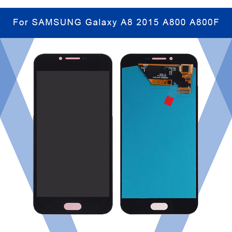 For SAMSUNG Galaxy A8 2015 A800 A800F LCD AMOLED Display Screen+Touch Panel Digitizer Assembly For SAMSUNG Display Original
