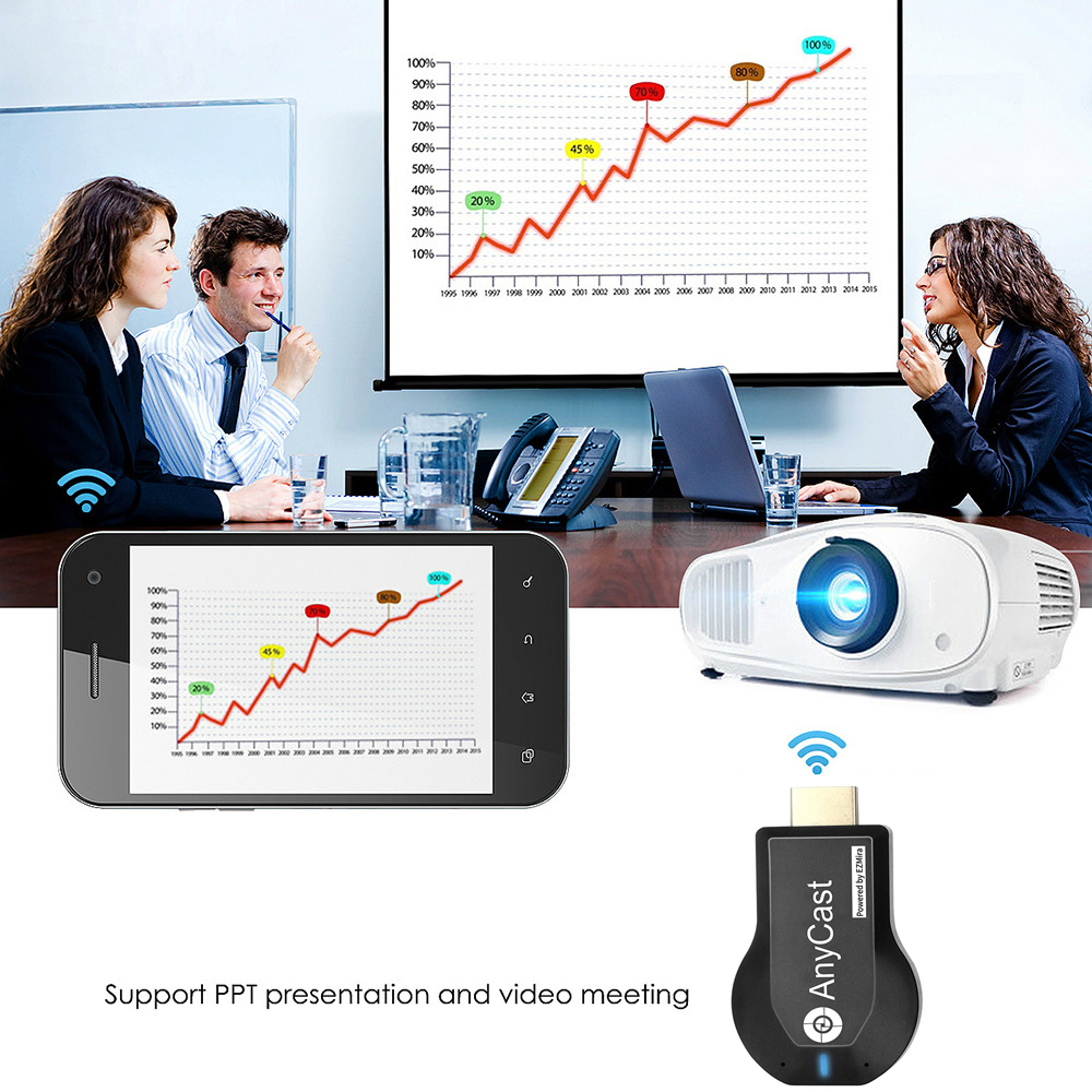 Penerima WiFi M2 Plus TV stick Anycast DLNA Miracast Airplay mirror - Audio dan video rumah - Foto 5