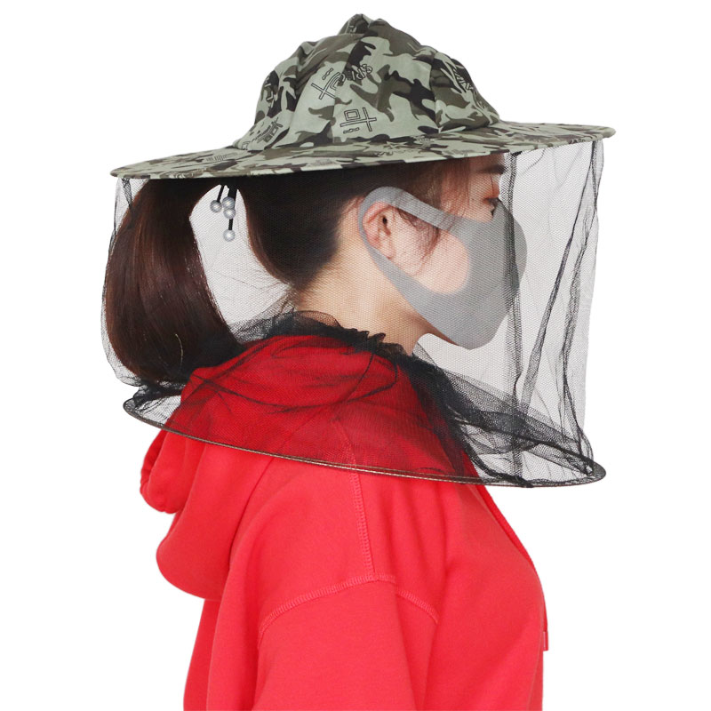 Beekeeping Hat Professional Mosquito Bug Insect Outdoor Protector Bee Resistance Net Mesh Head Face Cap