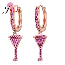 Fast Dispatch Luxury Brand Gold Color Cocktail Party Goblet Earrings For Women/Lady/Girls 925 Sterling Silver Monaco Jewelry(China)