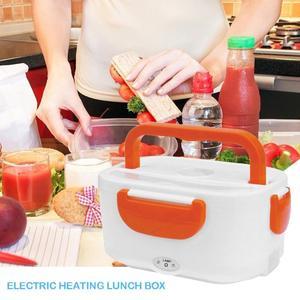 Image 2 - 2 in 1 Tragbare Edelstahl Liner ABS Shell Elektrische Heizung Lunch Box Lebensmittel Heizung Container Küche Geschirr