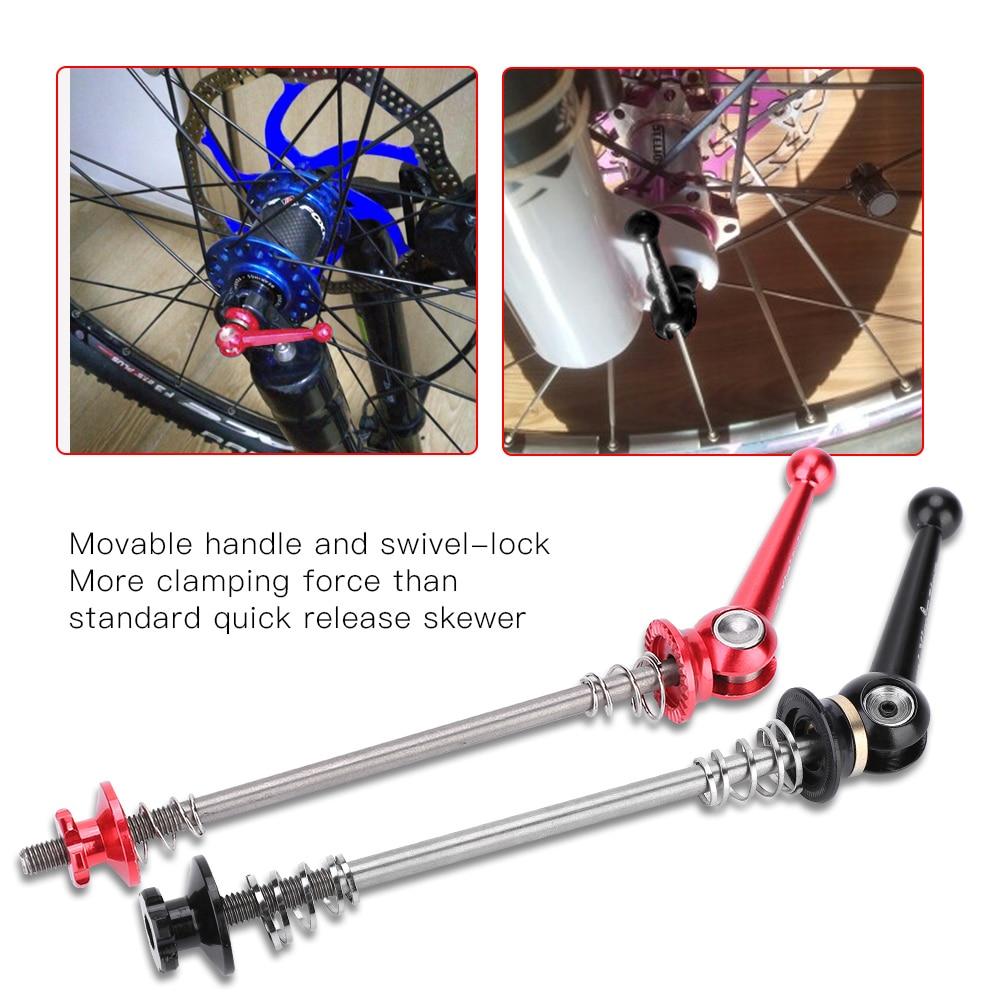 Ultra-leve 48 g/par titânio ti eixo espetos qr mtb bicicleta de estrada bicicleta liberação rápida frente 100 traseira 130/135mm cubo da roda espetos