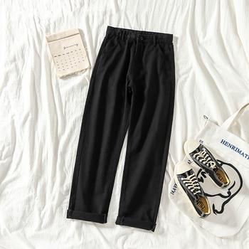 Jeans Women Straight Loose School High Waist Solid Simple Harajuku Womens Trousers Denim Korean Style All-match Females Fashion 4