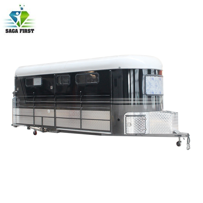 Deluxe 3 Horse Angle Load Float For Transportation