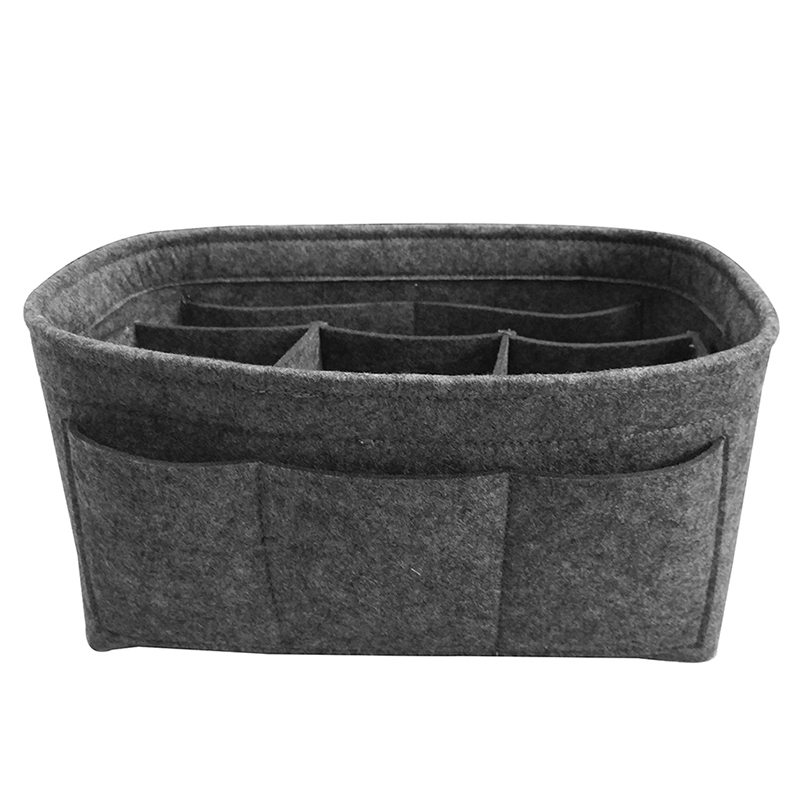 Felt Storage Bag Cosmetics Home Small Items Supplies Organizer Or Folding Storage Box Grey image