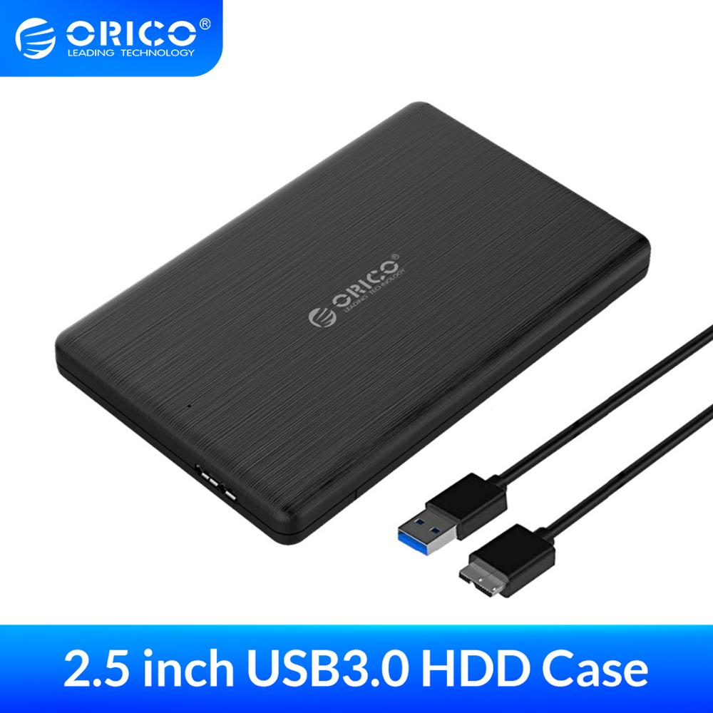 ORICO 2.5 Inch HDD Enclosure SATA to USB3.0 Micro B External Hard Drive Disk Enclosure Case for 7mm SSD Support UASP for WD(China)