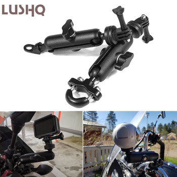Motorcycle Bike Camera Holder Handlebar Mirror Mount Bracket For HONDA CB 250 TWO FIFTY CBR 900 RR CBR250R VTX 1300 CBR 500R image