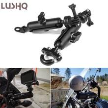 Staffa di montaggio specchio manubrio supporto fotocamera bici moto per HONDA FORZA 300 2019 hepa 125 CB600F CBR 1100 XX NC750X