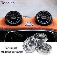 Turbina de ar condicionado tomada modificação acessórios para mercedes smart 453 fortwo forfour estilo do carro decorações interiores