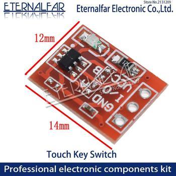 TTP223 klawisz dotykowy moduł przełączający jednokierunkowy przycisk dotykowy przełączniki pojemnościowe samoblokujące bez blokowania pojemnościowe przełączniki dotykowe PCB tanie i dobre opinie ETERNALFAR Self-Locking No-Locking Capacitive Touch Switches Ze stopu Other(Other) 1 year TTP223 ETERNALFAR Dotykowy włącznik wyłącznik