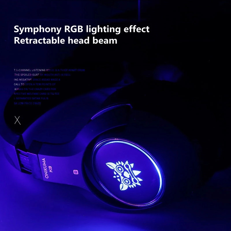 menina jogos fones de ouvido rgb luminoso