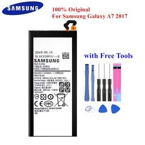 100% Original Bateria EB-BA720ABE para Samsung Galaxy A7 2017 A720 SM-A720F SM-A720S A720F/DS 3600mAh Top Qualidade Akku + ferramentas