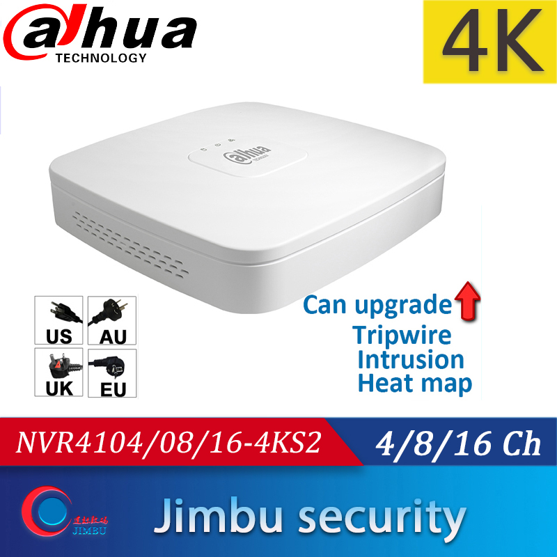 Dahua Video Recorder NVR4104-4KS2 NVR4108-4KS2 NVR4116-4KS2 4K&H.265 Up To 8MP Heat Map People Counting Intrusion Tripwire