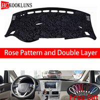 Rose Pattern For BYD M6 2010 2011 2012 2013 2016 Dashboard Cover Car Stickers Car Decoration Car Accessories Interior Car Decals