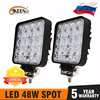 Okeen Gigger Size 4 Inch Led Light Bar 18W 48W Spot Flood 12V 24V Off Road auto 4WD Truck Tractor 4X4 Suv Led Verlichting