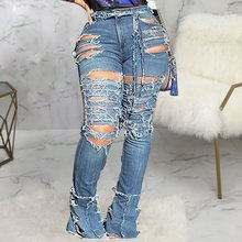 Ripped Jeans For Women Plus Size Skinny Women's Je