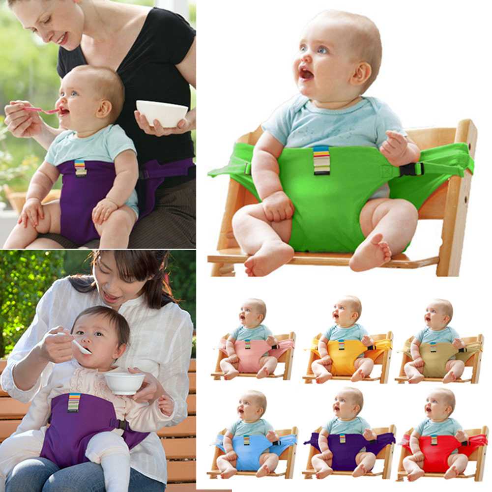 Baby Dining Belt Portable Infant Chair Seat Product Stretch Wrap Safty Cotton Belt Harness Baby Carrier Baby Travel Harness
