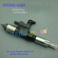 Injetor de motor diesel para automóvel  erikc 095000-6366  com trilho comum 0950006362 assy 095000 6360 para ismaung foward 4hk1 5.2l