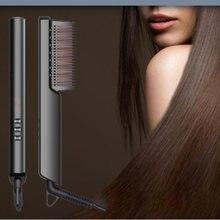 Портативный выпрямитель для волос с ЖК дисплеем плоская щетка