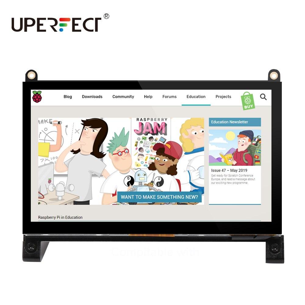 UPERFECT Raspberry Pi Touchscreen Monitor 7 Protable Display IPS 1024x60 0 Gebaut-in Dual Lautsprecher für RaspberryPi 4 3 2