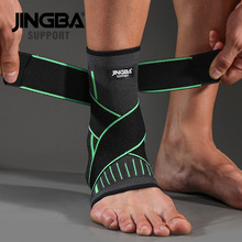 JINGBA SUPPORT 1 PCS Protective Football Ankle Support Basketball Ankle Brace Compression Nylon Strap Belt Ankle Protector