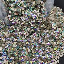 Wholesale 2880pcs Crystals AB Nail Rhinestones 150 shapes Flat Gold Bottom Glass Stones For Nail Art Decorations Design