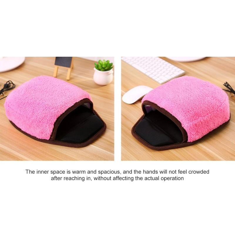 Hand Warmer Thermal Mouse Pad USB Heated Fleece Warm Winter Wristguard Comfy Mouse Mat