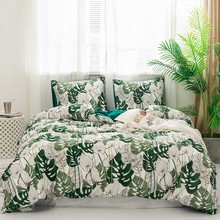 Classic Luxury Leaf Peach bedding sets Green Pink Summer Bed Linen Duvet Cover Set Pastoral Bed Double CAB Side Duvet cover 2020