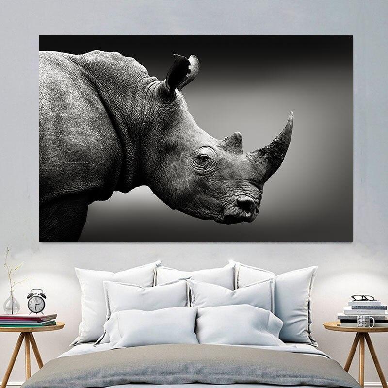 Живопись Холст Картина Настенная живопись слон лошадь плакат со львом печать настенные картины для Декор в гостиную украшения дома