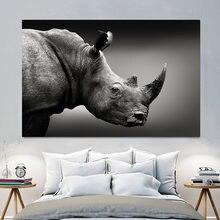 Animais pintura da lona arte da parede elefante cavalo leão poster imprime fotos de parede para sala estar decoração casa