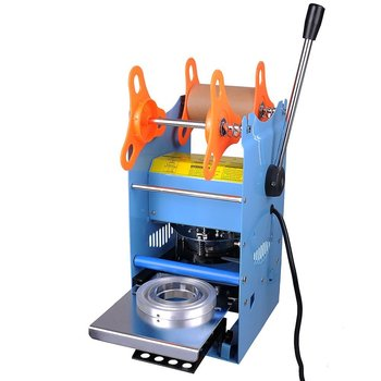 Hand Held plastic beverage bubble tea cup sealing machine for cup sealing firm type Heavy Duty 220V xeoleo commerical cup sealer automatic cup sealing machine for pp pe paper pc bubble tea machine suitable 70 75 88 90 95mm