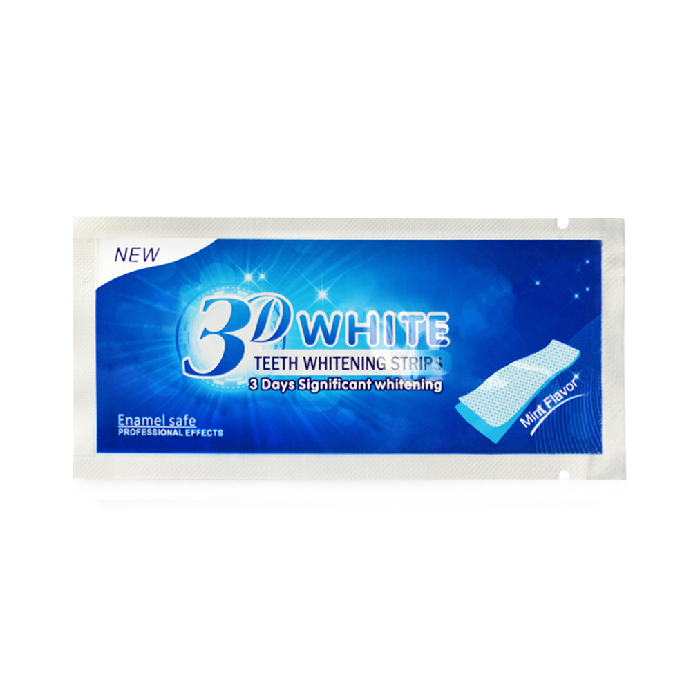 20PCS White Gel Teeth Whitening Strips Stain 3D Removal Oral Hygiene Care Strip Dental Bleaching Tooth Cleaning Tools TSLM2