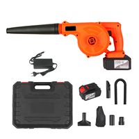 Cordless Leaf Blower 21V 4.0A Lithium 2 in 1 Sweeper and Vacuum Electric Air Blower Computer Cleaner Garden Power TooL Kit