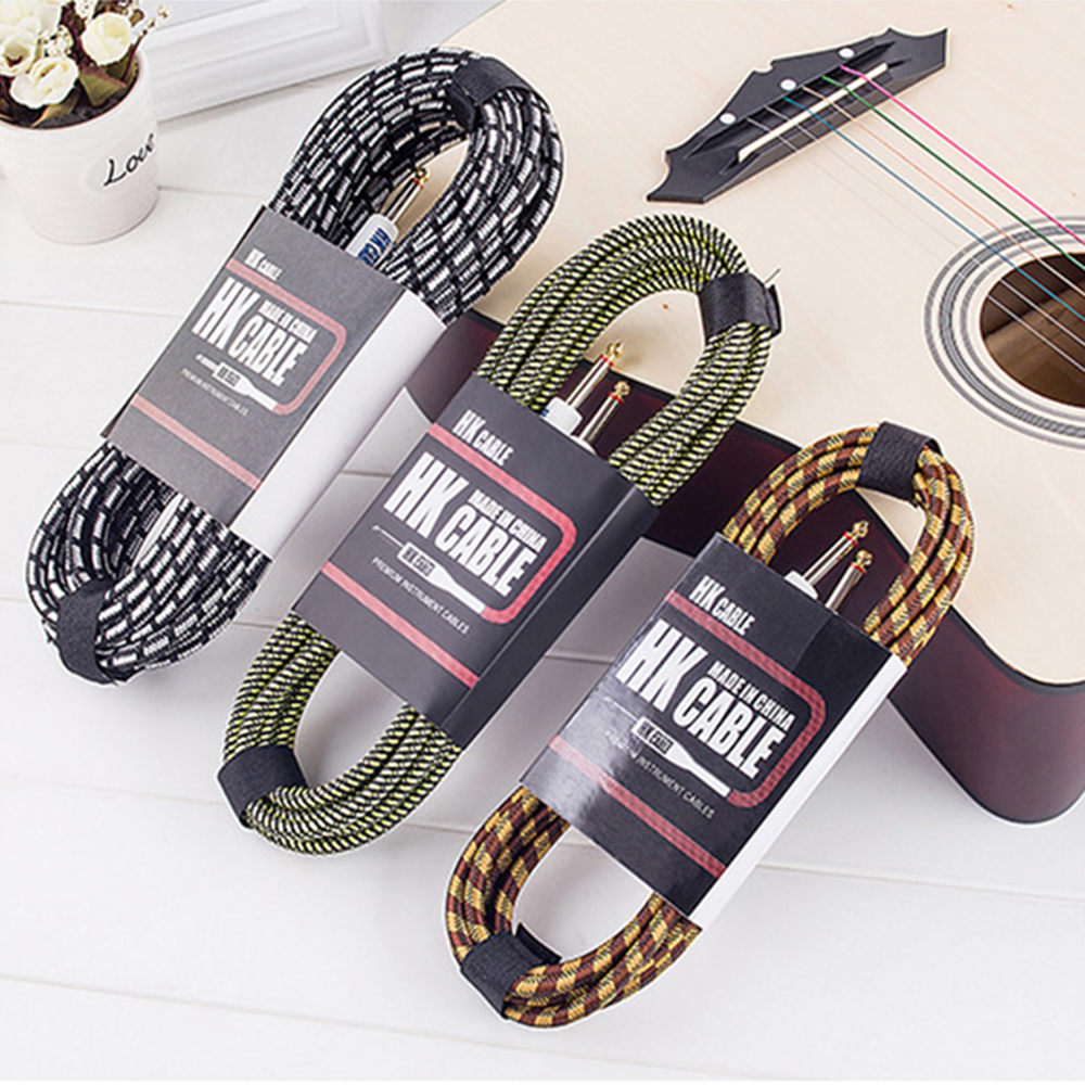 Random Color Electric Guitar Cable Wire Cord 3M 5M 10M No Noise Shielded Bass Cable For Guitar Amplifier Musical Instruments