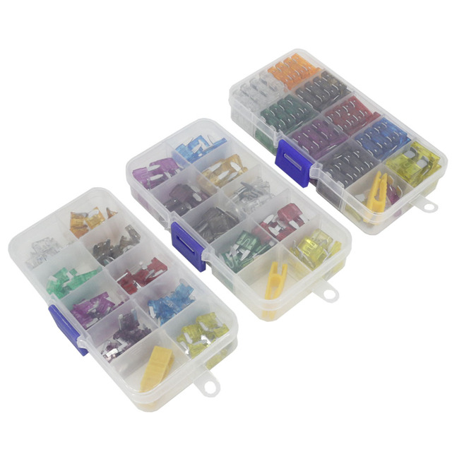 45PCS Small Size 5-40A Combination car Fuse Automotive Fuse with Box and Clip