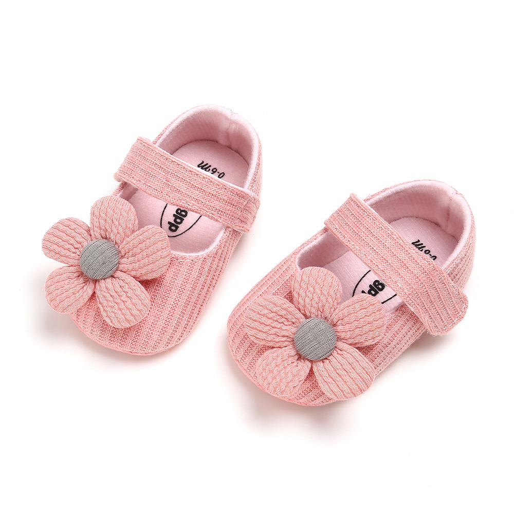 2019 Kids Baby Girl Unisex Soft Sole Crib Shoes Flower Cotton Prewalker Shoes Newborn Shoes First Walker