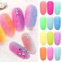 1 Box Holographic Nail Glitter Powder Sugar Starlight Effect