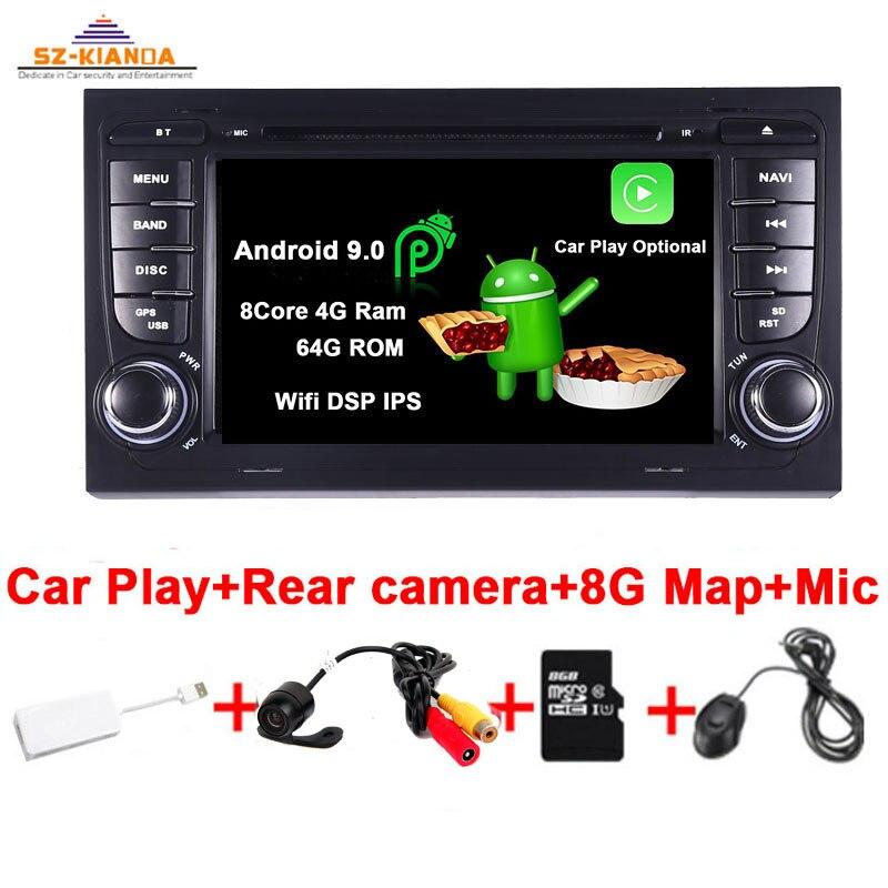 Автомобильный игровой Android 9,0 автомобильный DVD gps для Audi A4 B6 B7 S4 B7 B6 RS4 B7 SEAT Exeo Авторадио Wifi Bluetooth Автомобильный мультимедийный плеер