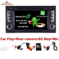 Car Play Android 9.0 Car DVD GPS For Audi A4 B6 B7 S4 B7 B6 RS4 B7 SEAT Exeo autoradio Wifi Bluetooth Car Multimedia Player
