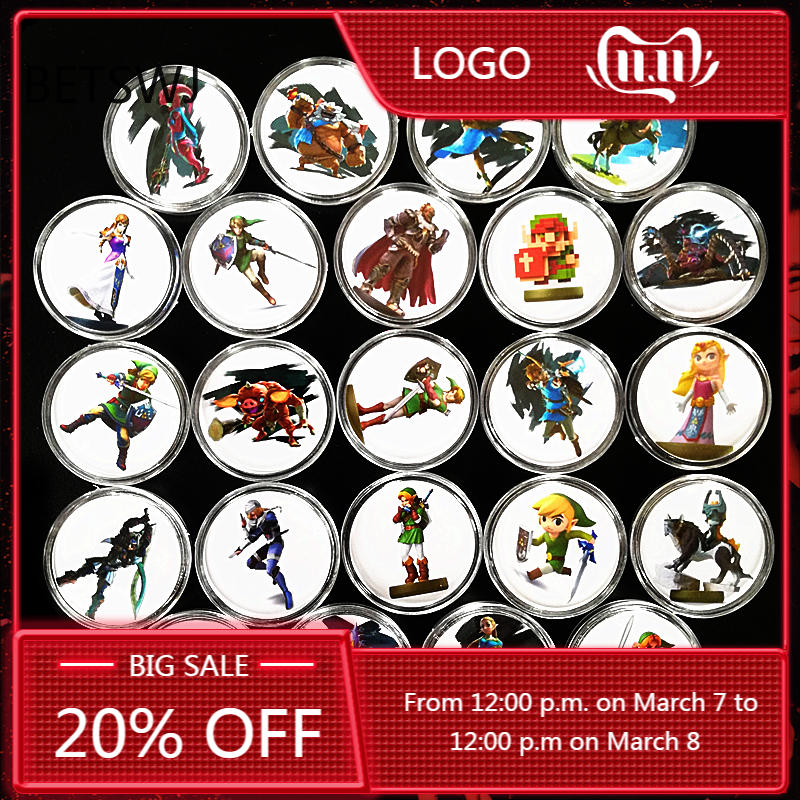Full-Set Link's Ntag215-Tag Amiibo-Card Nfc-Collection Awakening Coin-Of Zelda Breath